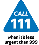 Call 111 when its less urgent than 999